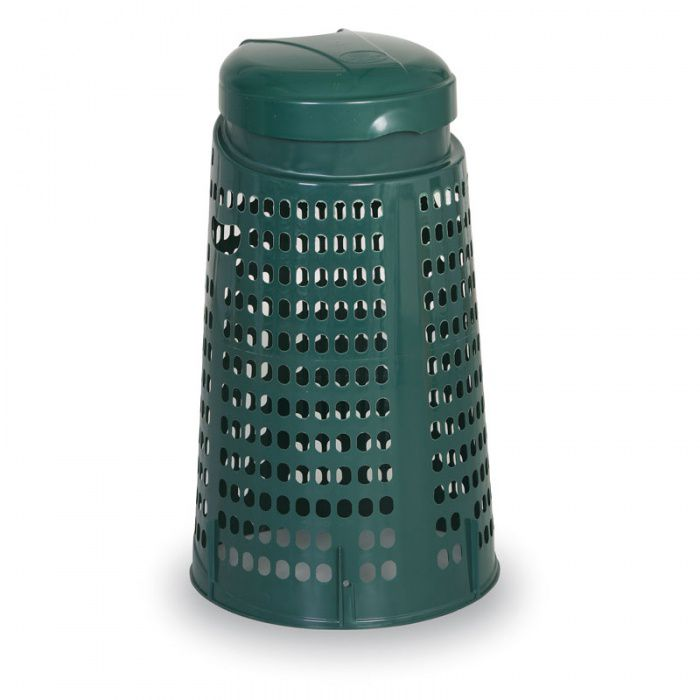 Plastový odpadkový koš na 120 l pytle, zelený