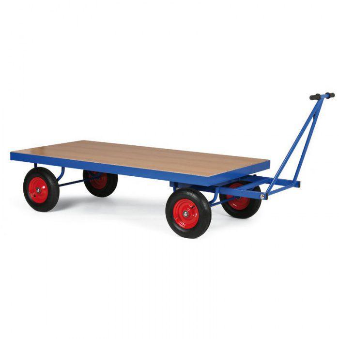 Plošinový vozík - 1600x800x370 mm - nosnost 500 kg