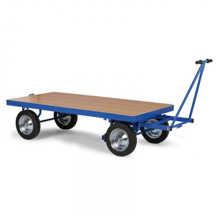 Plošinový vozík - bez bočních stěn - 2000x1000 mm - nosnost 1500 kg