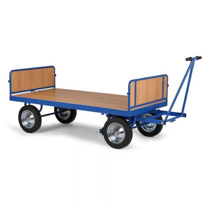 Plošinový vozík - 2 plné stěny - 2000x1000 mm - nosnost 1500 kg