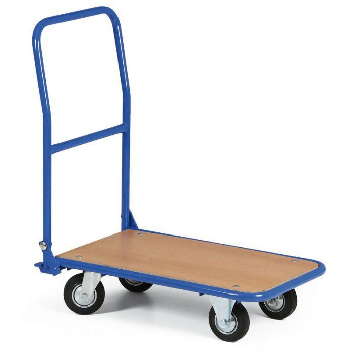 Plošinový vozík se sklopným madlem - 720x450 mm - nosnost 300 kg