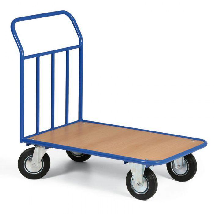 Plošinový vozík s dřevotřískovou ložnou plochou - 970x660 mm - nosnost 300 kg