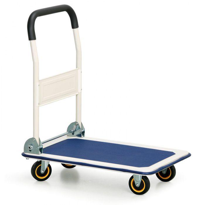 Plošinový vozík se sklopným madlem - 910x610 mm - nosnost 300 kg