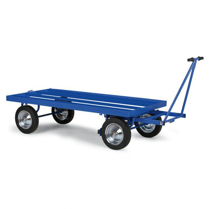 Plošinový vozík - výplň ocelové profily (rošt) - nosnost 600 kg