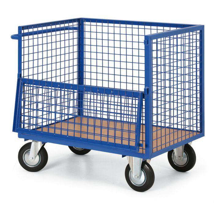 Skříňový vozík - 4 drátěné stěny - nosnost 400 kg