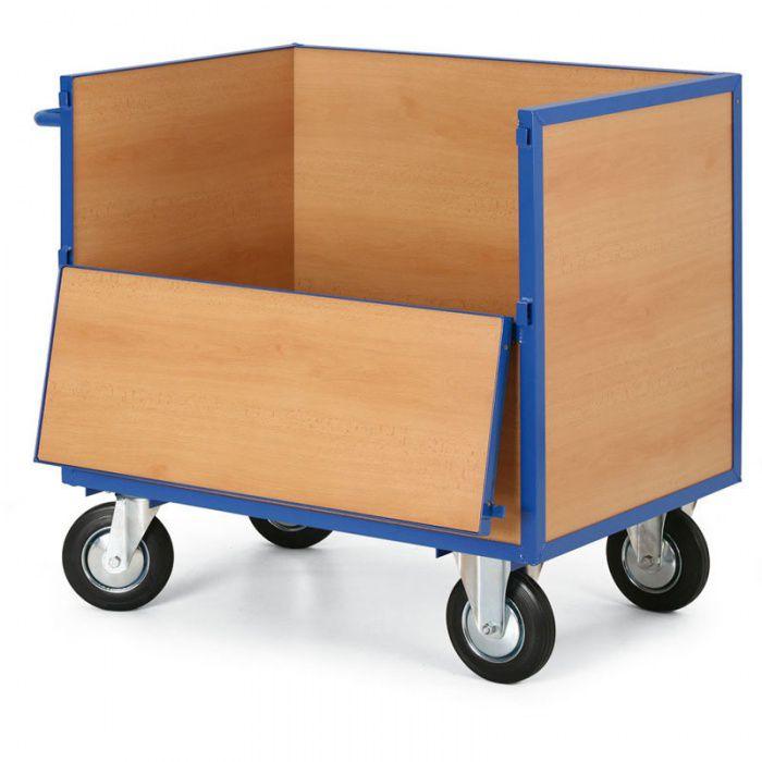Skříňový vozík - 4 plné stěny - nosnost 400 kg