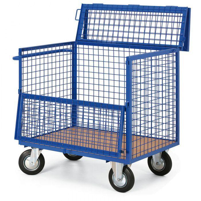Skříňový vozík - 5 drátěných stěn - nosnost 400 kg