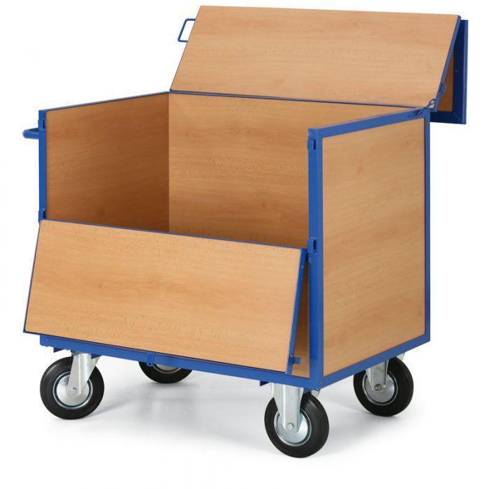 Skříňový vozík - 5 plných stěn - nosnost 400 kg