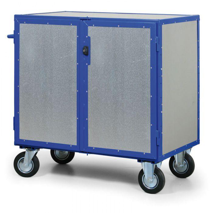Skříňový vozík uzamykatelný - 4 plné stěny - nosnost 600 kg
