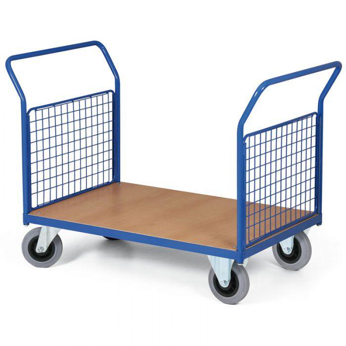 Stavebnicový plošinový vozík - 2 drátěné stěny 1200x800 mm - nosnost 500 kg