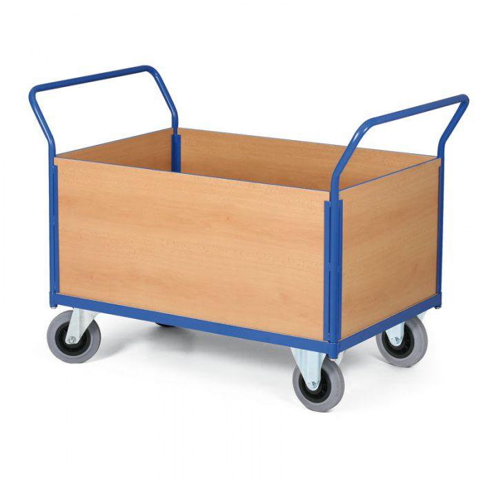 Stavebnicový plošinový vozík - 2 madla, 4x výplň - nosnost 400 kg