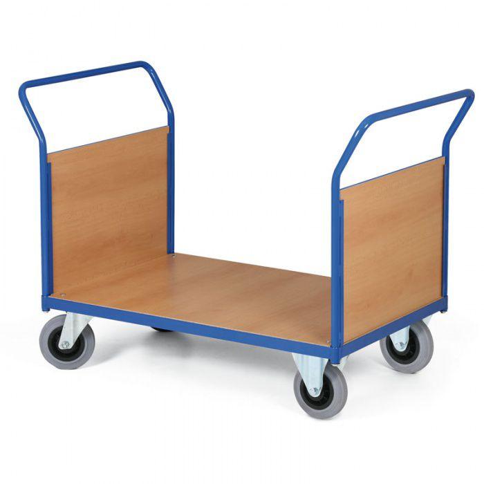 Stavebnicový plošinový vozík - 2 madla s výplní - 1000x700 mm - nosnost 400 kg
