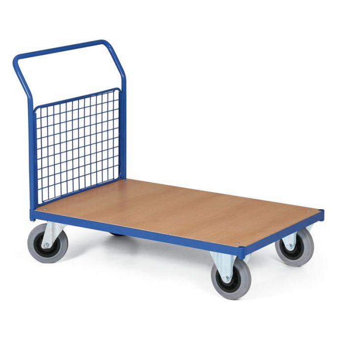 Stavebnicový plošinový vozík - 1 drátěná stěna 750x500 mm - nosnost 200 kg