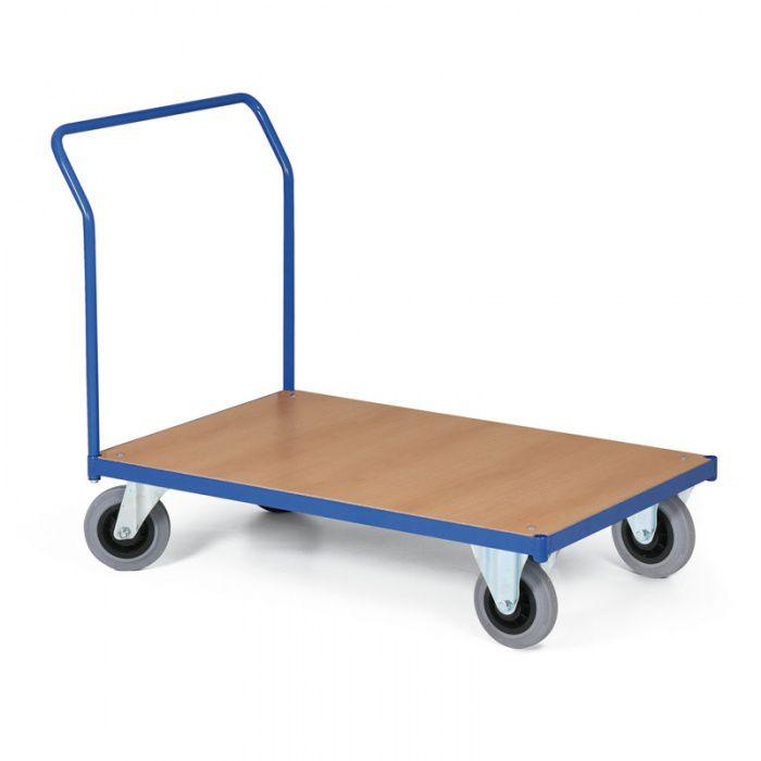 Stavebnicový plošinový vozík - základní s madlem - 750x500 mm - nosnost 200 kg