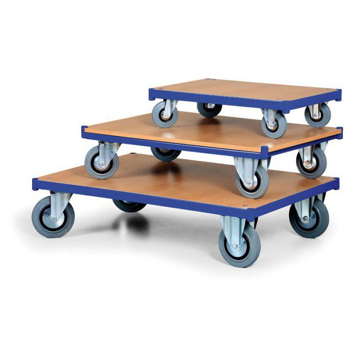 Stavebnicový plošinový vozík - základní plošina - 750x500 mm - nosnost 200 kg