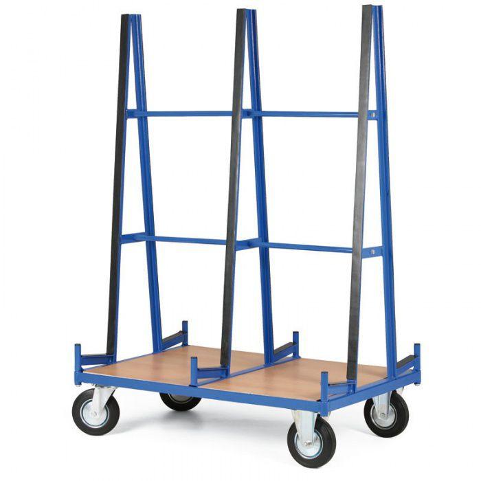 Vozík pro deskový materiál - Opěrná plocha 1200x1600 mm