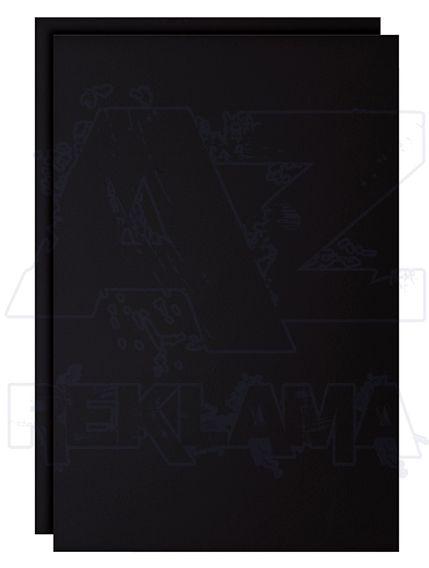 2 ks Černá Fólie na psaní křídou / fixem A2 A-Z Reklama CZ