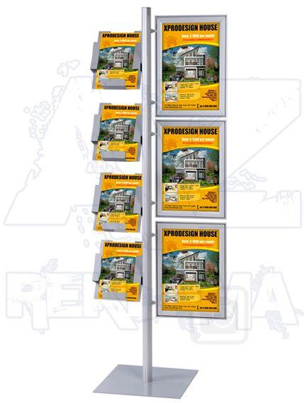 Stojan Multistand s 3 rámy A3 a 4 zásobníky A4 A-Z Reklama CZ