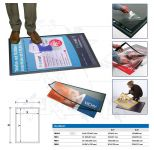 Výměnný reklamní systém na podlahu 700x1000mm A-Z Reklama CZ