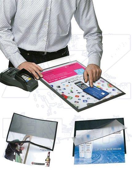 Výměnný reklamní systém na pult A3 PC