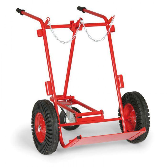 Přepravní vozík na 2 tlakové láhve o výšce 1000-1400 mm