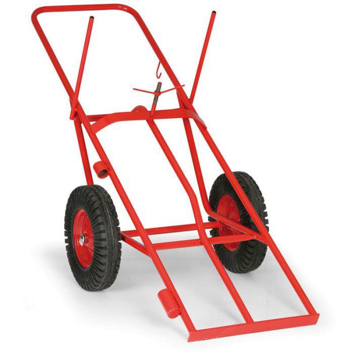 Přepravní vozík na 2 tlakové láhve o výšce 1200-1600 mm