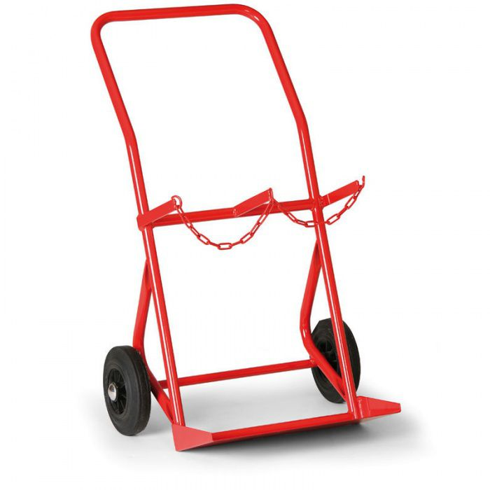 Přepravní vozík na 2 tlakové láhve o výšce 600-1000 mm