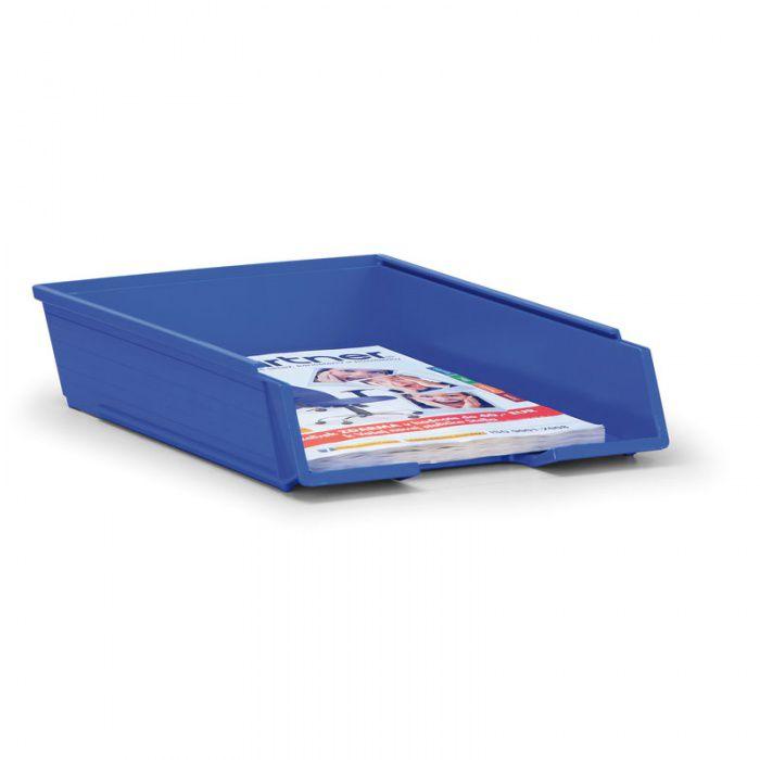 Plastový odkládací stohovací box do formátu A4 - Modrý - set 25 ks