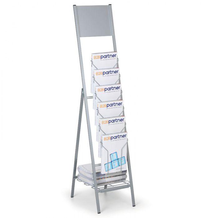 Skládací stojan na prospekty 6x A4, s prostorem pro logo A-Z Reklama CZ