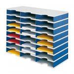 Box - 24 x přihrádka standard / 8 pater - modré stěny