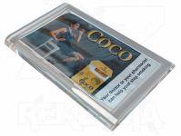 Dvojdílný reklamní skleněný mincovník COUNTER 2 A-Z Reklama CZ