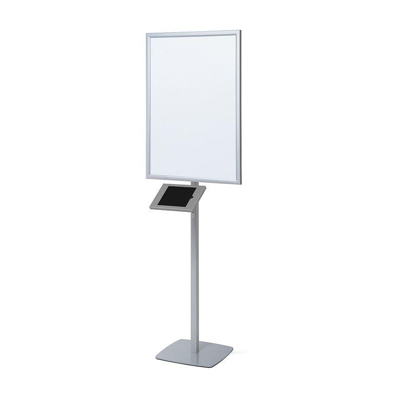 Slimcase stojan se světelným plakátovým rámem A1 - Šedý