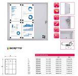 Informační Vitrína interiérová - 9xA4 SCRITTO ECONOMY A-Z Reklama CZ