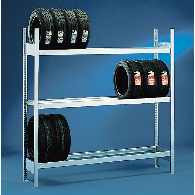 Úložný regál na pneumatiky, 2000x2000x400 mm, základní