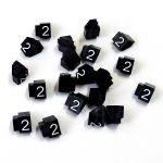 Cenovky 9x6, náhr. číslo 2, 20 ks, Bílé