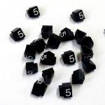 Cenovky 9x6, náhr. číslo 5, 20 ks, Bílé