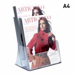 Plastový stojánek na letáky 2x A4 nad sebou stojací A-Z Reklama CZ