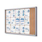 Informační Vitrína SCRITTO s posuvnými dvířky 18xA4 Korková stěna A-Z Reklama CZ