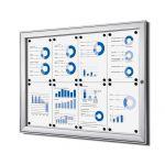 interiérová / venkovní vitrína SCRITTO pro prospekty 8xA4 A-Z Reklama CZ