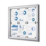 interiérová / venkovní vitrína SCRITTO pro prospekty 6xA4 A-Z Reklama CZ