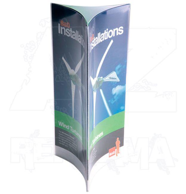 PVC Trojstranný Plastový nabídkový stojánek 3x DL 1/3A4