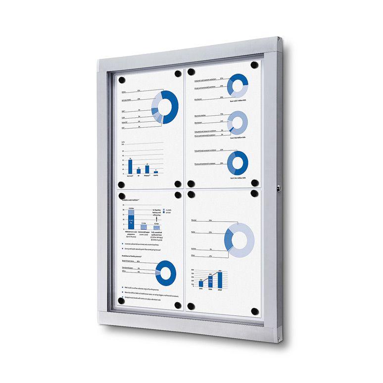 Venkovní informační vitrína SCRITTO ECONOMY pro prospekty 4xA4 A-Z Reklama CZ