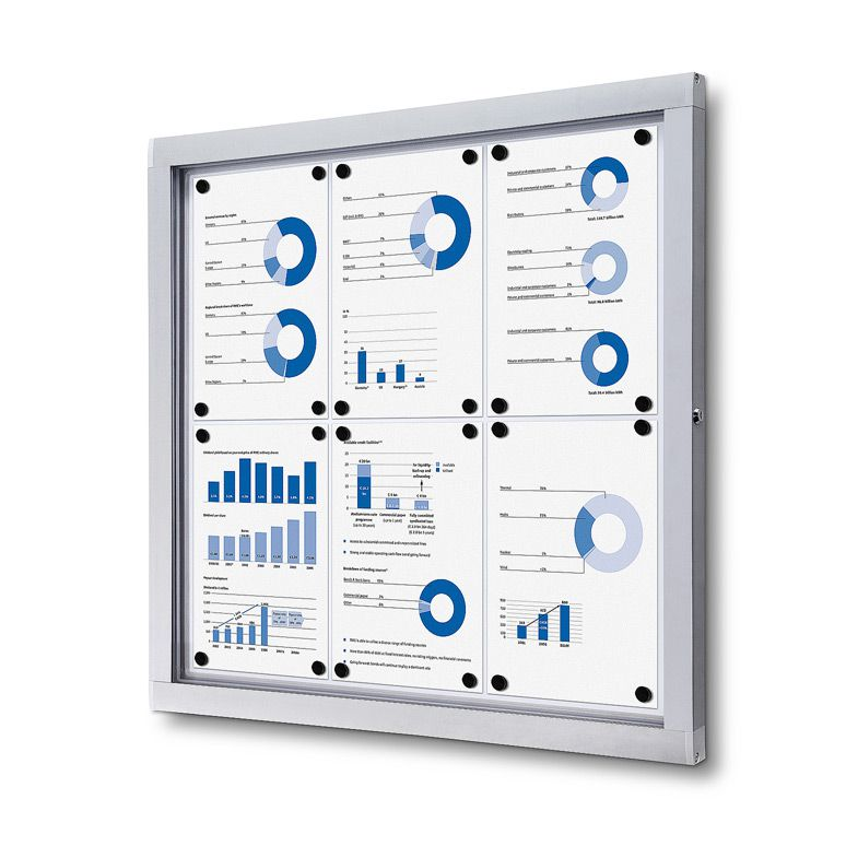 Venkovní informační vitrína SCRITTO ECONOMY pro prospekty 6xA4 A-Z Reklama CZ