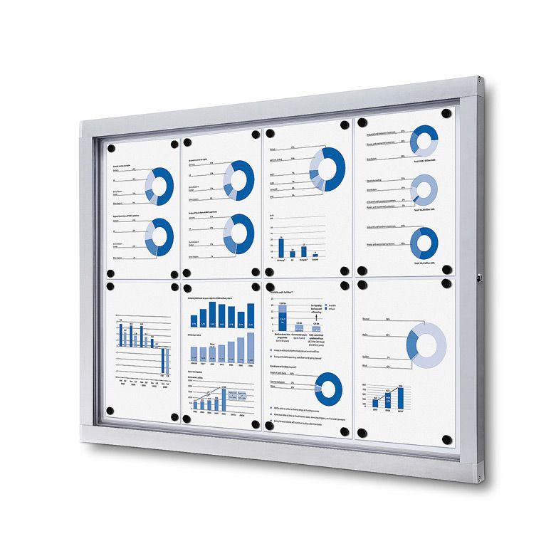 Venkovní informační vitrína SCRITTO ECONOMY pro prospekty 8xA4 A-Z Reklama CZ