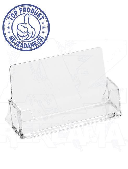 Plastový stojánek na vizitky na šířku stojací