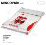 Dvojdílný reklamní skleněný mincovník CLIF A-Z Reklama CZ