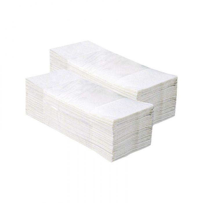 Skládané papírové ručníky - Jednovrstvé Bílé