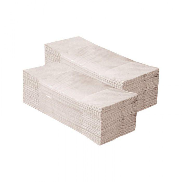 Skládané papírové ručníky - Jednovrstvé Recykl Šedé