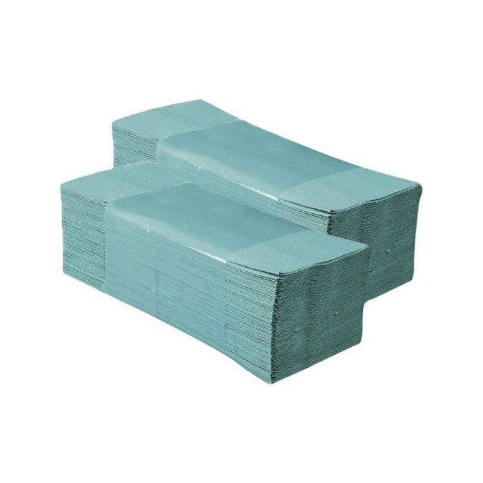 Skládané papírové ručníky - Jednovrstvé Zelené