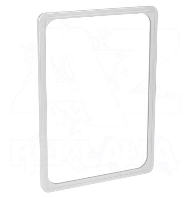 Plastový plakátový rámeček 100, A4, bílý